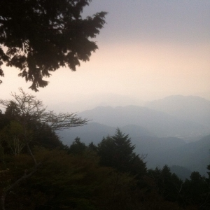 A view from Mt. Hiei