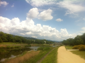 Kamogawa today, +28